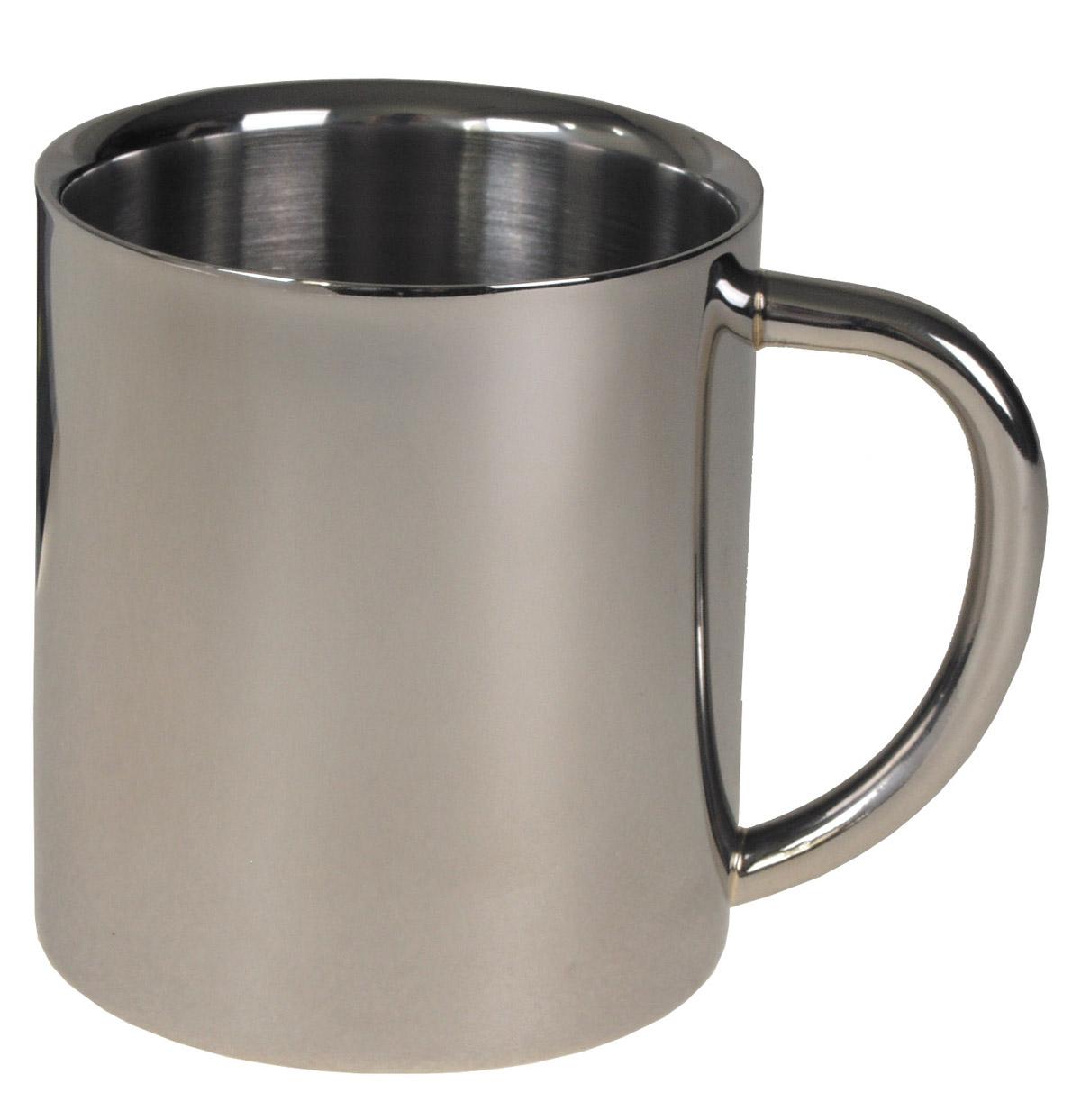 Tasse,  Edelstahl, doppelwandig,  ca. 250 ml